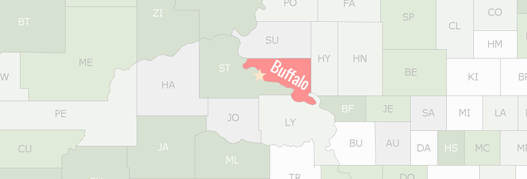 Buffalo County Map