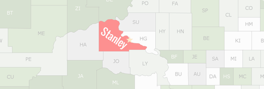 Stanley County Map
