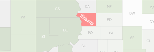 Walworth County Map